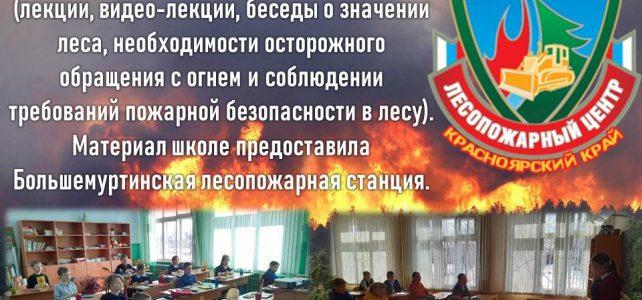 С 1 марта по 1 апреля в школе прошли мероприятия по лесопожарной пропаганде